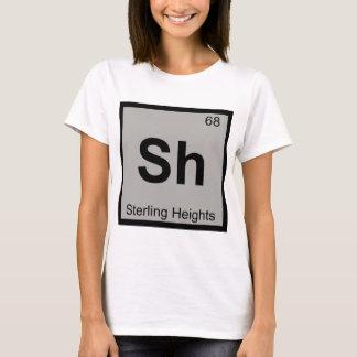 Sh - Sterling Heights Michigan Chemistry Symbol T-Shirt