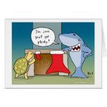 Shaaark cartoon Christmas card