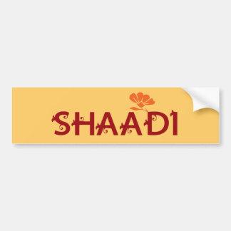 Shaadi Pegatina De Parachoque