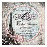 Shab Chic Paris Baby Shower Personalized Invitations