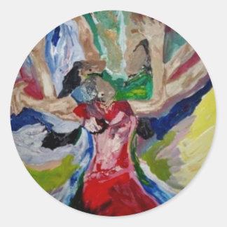 Shabach Praise Dancers Classic Round Sticker