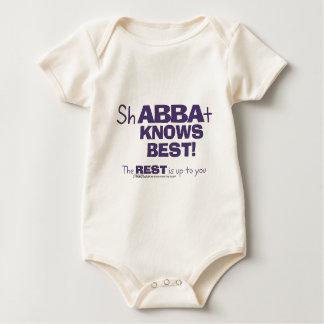 ShABBAt Abba Knows Best Rompers