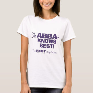 ShABBAt Abba sabe mejor Playera