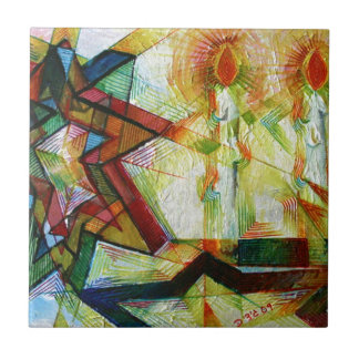 Shabbat Azulejo Cuadrado Pequeño