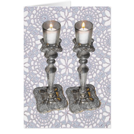 Shabbat Candles Card
