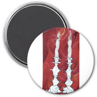 Shabbat Candles Fridge Magnets