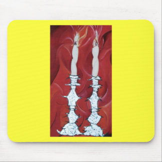 Shabbat Candles Mouse Pad