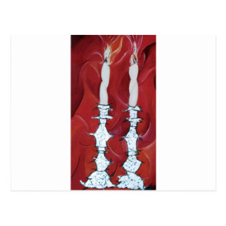 Shabbat Candles Postcard