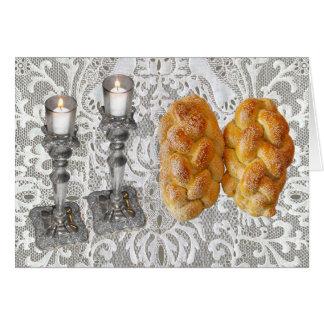 Shabbat Challah & Lights Card