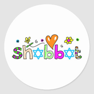 Shabbat Classic Round Sticker