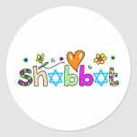 Shabbat Etiqueta Redonda