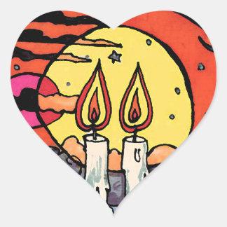 Shabbat Heart Sticker