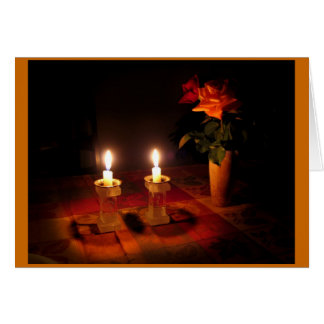 Shabbat mira al trasluz la tarjeta