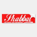 Shabbat Pegatina De Parachoque