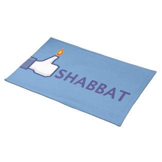 Shabbat Placemat Mantel Individual