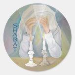 Shabbat Round Sticker