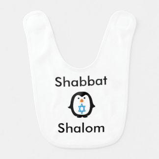SHABBAT SHALOM BABY BIB SO SWEET