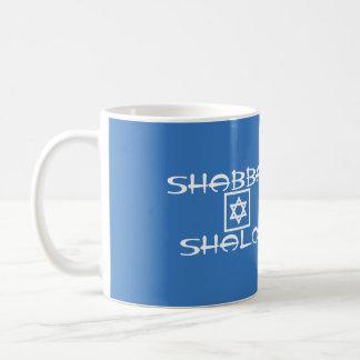 Shabbat Shalom Blue Sabbath Coffee Mug