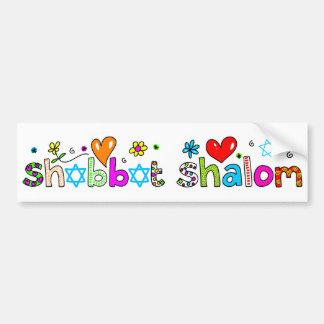 Shabbat Shalom Pegatina De Parachoque