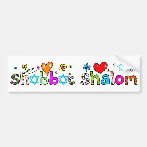 Shabbat, Shalom Car Bumper Sticker