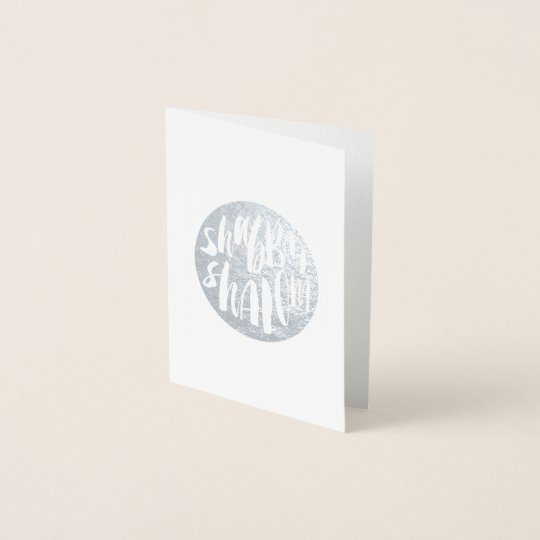 Shabbat shalom jewish foil note greeting card zazzle shabbat shalom jewish foil note greeting card m4hsunfo