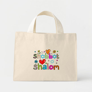 Shabbat, Shalom Mini Tote Bag