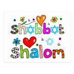 Shabbat, Shalom Post Card