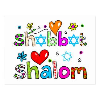 Shabbat, Shalom Postcard