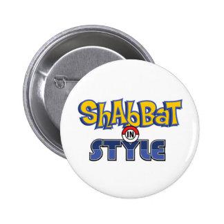 Shabbat Style Pin Redondo De 2 Pulgadas