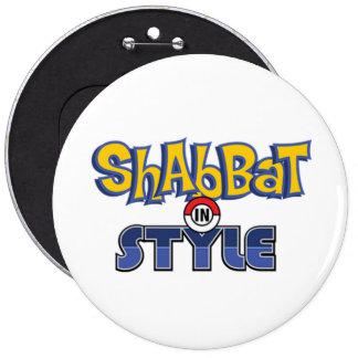 Shabbat Style Pin Redondo De 6 Pulgadas