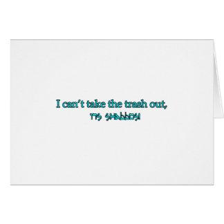 shabbos card