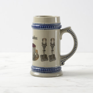 Shabbos Challah, Knife, Wine, & Candles 18 Oz Beer Stein