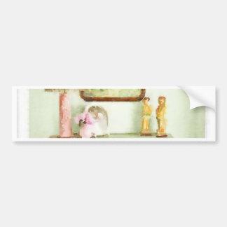Shabby Bedroom Bumper Sticker
