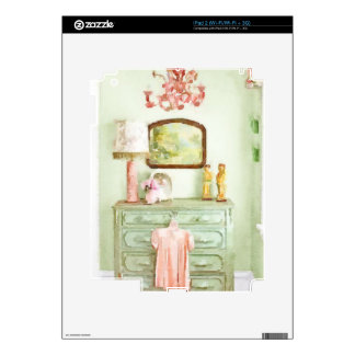 Shabby Bedroom Decals For iPad 2