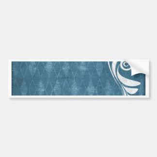 Shabby Blue French Toile Bumper Sticker