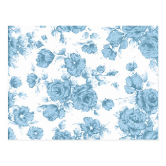 Shabby Blue French Toile Postcard