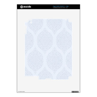 Shabby Blue French Toile Skins For The iPad 2