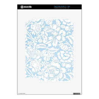 Shabby Blue French Toile Decal For The iPad 2