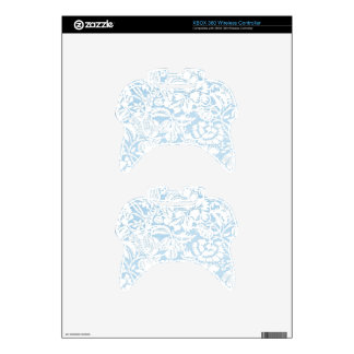 Shabby Blue French Toile Xbox 360 Controller Skin