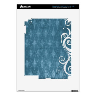 Shabby Blue French Toile iPad 3 Skins