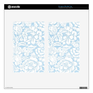 Shabby Blue French Toile Kindle Fire Decal
