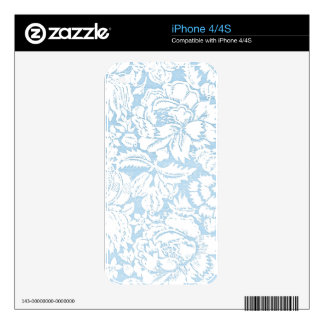 Shabby Blue French Toile iPhone 4S Skin