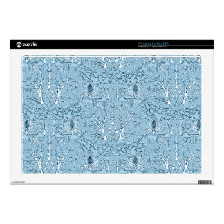 "Shabby Blue French Toile Skins For 17"" Laptops"