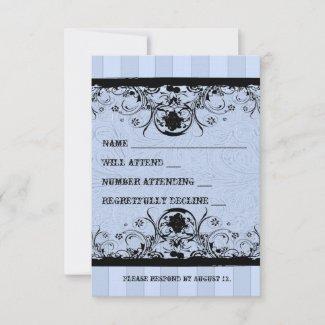 Shabby Blue Old West rsvp with envelopes zazzle_invitation