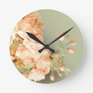 Shabby Blush Round Clock