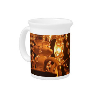 Shabby Chandelier Bling 2-Gold DRINK PITCHER