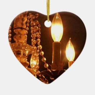 Shabby Chandelier Bling 2-Gold HEART ORNAMENT