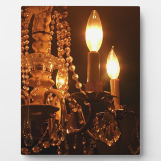 Shabby Chandelier Bling 2-Gold-PLAQUE Plaque
