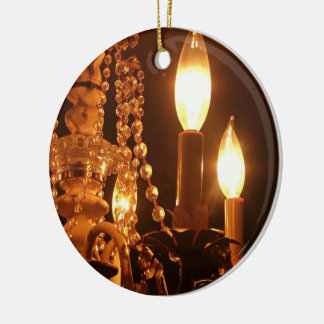 Shabby Chandelier Bling 2-Gold ROUND ORNAMENT