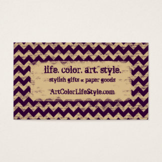 Shabby Chevron Business Card